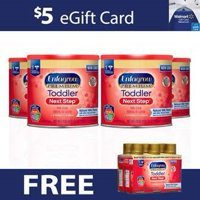 FREE $5 Walmart eGift Card and 6 Ready-to-Use Bottles when you Purchase 4 Cans of Enfagrow Premium Toddler Next Step 24oz Formula