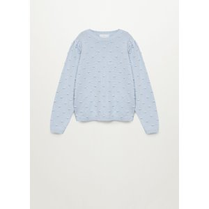 MangoTextured organic cotton-blend sweater - Teen | Mango Kids USA