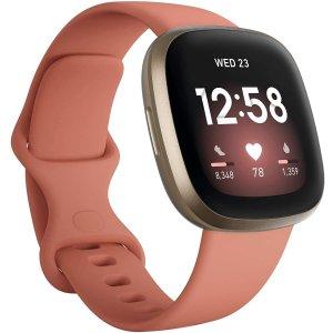 $229.95(原价$299.95)限今天:Fitbit Versa 3 智能手表  支持Alexa 四色可选