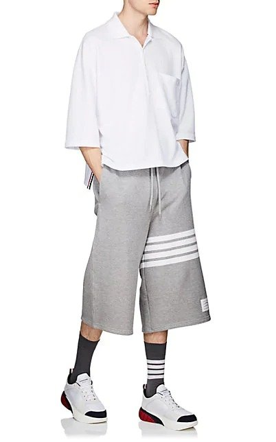 Block-Striped Terry 运动裤