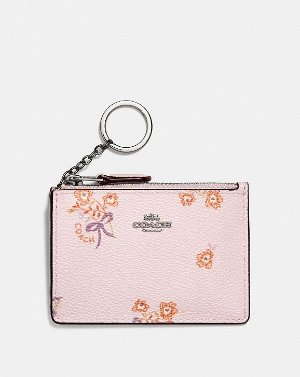 COACH: Mini Skinny Id Case With Floral Bow Print