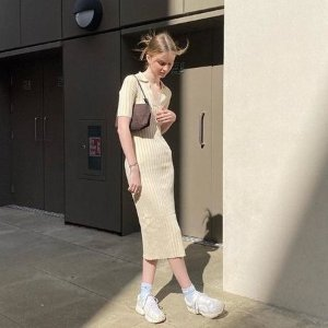 Monki针织连衣裙