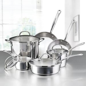 $72.18Farberware Millennium Stainless Steel 10-Piece Cookware Set