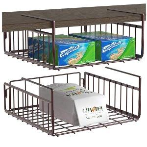 SimpleHouseware Under Shelf Basket 2 Pack
