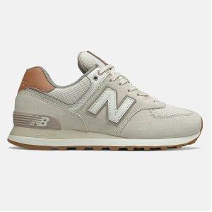 低至5折 £48收复古灰574New Balance 奥莱区热促  复古经典球鞋574 IU同款