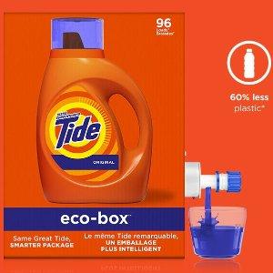 $19.99(原价$21.99)Tide 高效清洁洗衣液4.43L 环保不浪费 1盒抵3瓶