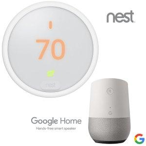 $169 还有其他智能设备搭配可选Nest Thermostat 3代 / E 智能温控器 + Google Home 智能音箱