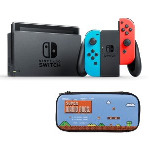 $297.88 包邮Nintendo Switch + Mario 保护壳套装