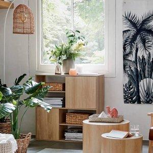 仅$5收大收纳筐Kmart 日常小家具系列 自然原木风