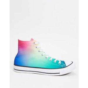 Converse36/36.5码渐变色高帮帆布鞋