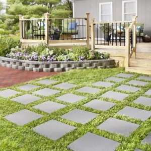 $1Square Gray Concrete Patio Stone