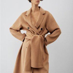 6折起 低至€45.99可收MANGO 冬季大衣直降 优雅御寒必备单品 双面泰迪大衣€69.99