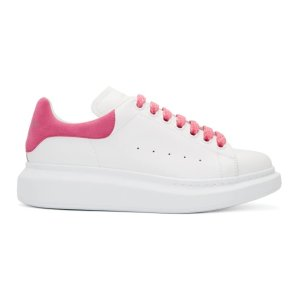 Alexander McQueen35.5-36.5芭比粉小白鞋