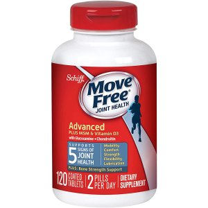 Glucosamine and Chondroitin Plus MSM & D3 Advanced Joint Health Supplement Tablets, Move Free (120 Count in A bottle)