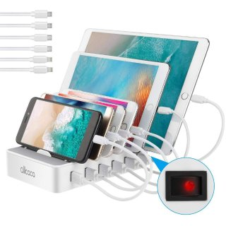 ALLCACA 50W 6-Port USB Charging Station