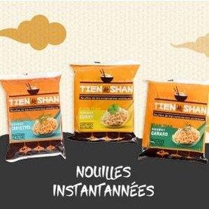 7.6折 €0.57/包 使用绿色棕榈油Tien Shan 亚洲速食小麦面热卖 鸡肉、牛肉味都有 方便美味