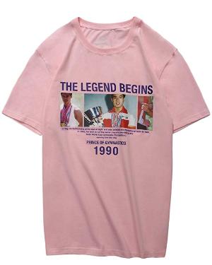Amazon.com: LI-NING PFW Mr.OG Printing Men Sports T-Shirt Lining Crew Collar Breathable Jersey AHSN867: Clothing