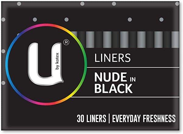 U by Kotex 护垫 Black, Pack of 30