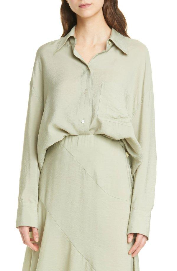 薄荷绿衬衫