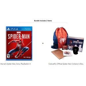 $19.99《漫威蜘蛛侠》PS4 实体版 + 蜘蛛侠收藏套盒