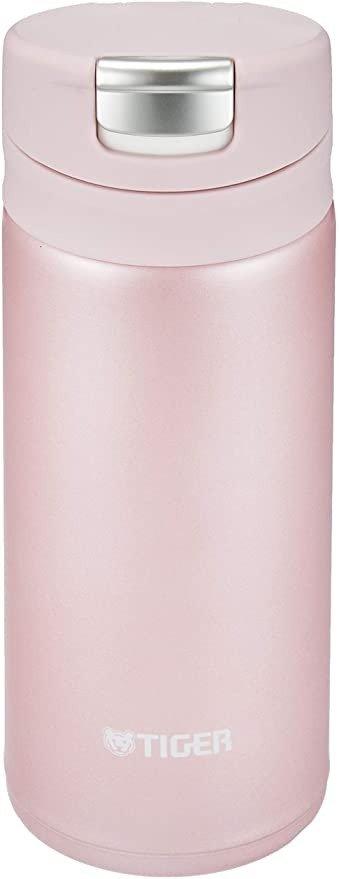 TIGER 虎牌 保温杯 水杯 一键开启式 保温杯 6小时保温保冷 200毫升 可放置杯子 鲜粉色 MMX-A022PA