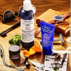 Receive a 5 piece men's gift, plus free gift boxingwith any $85+ men's purchase @ Kiehl's