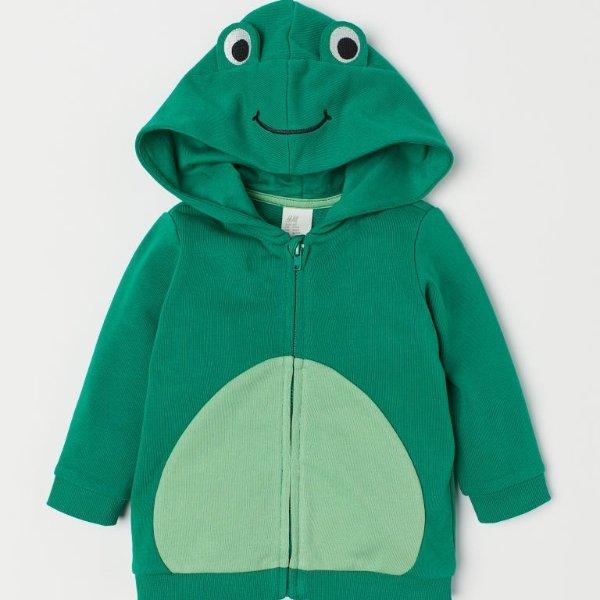 青蛙连帽外套