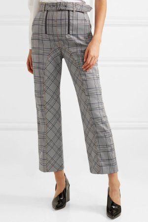 Self-Portrait | Cropped checked tweed straight-leg pants | NET-A-PORTER.COM