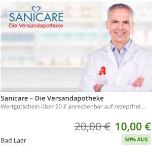 变相5折!€10收价值€20的代金券Sanicare 网上药店代金券 8月截止 家庭常备药、新冠自测品都能用