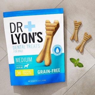 首单5折 + 订阅9.5折Dr. Lyon's 狗狗洁牙棒、补充剂等促销