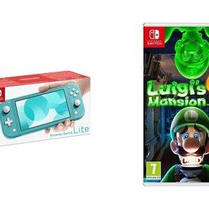 Switch Lite+路易吉洋楼3 仅£229.99Switch 多款主机+游戏捆绑套餐闪促 塞尔达、刺客信条都有