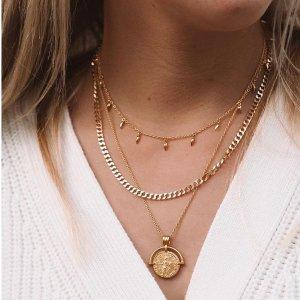 低至5折 £53收硬币项链Missoma 英国小众饰品热卖  收优雅复古项链 get高级时尚感