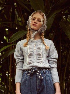 Frill Stud Knit  | W Concept