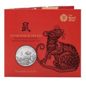 """£13起收藏 全球限量 预购从速上新:英国皇家铸币厂 I 2020年 """"鼠年生肖"""" 纪念币"""