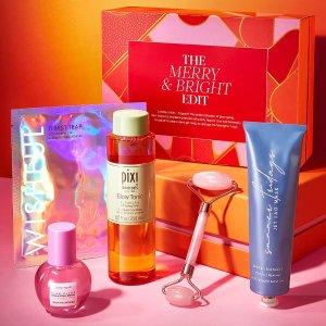 仅售£95(价值£159+)Cult Beauty The Merry & Bright礼盒上市 变相5.9折Pixi等一起入