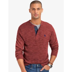 US Polo AssociationSPACE DYE THERMAL HENLEY