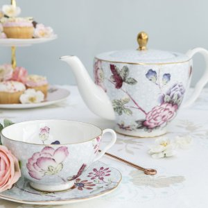 WedgwoodBuy Wedgwood Cuckoo Teacup and Saucer - Blue | Amara
