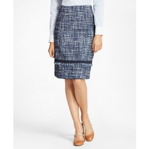 Brooks BrothersShimmer Boucle Skirt - Brooks Brothers
