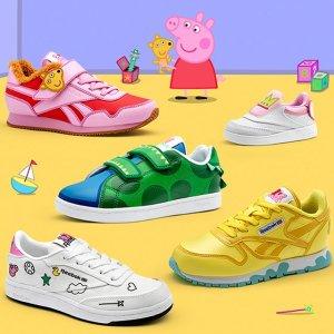 €40起收小童款粉色复古运动鞋Reebok x 小猪佩奇 合作款童鞋发售 穿上就是社会人