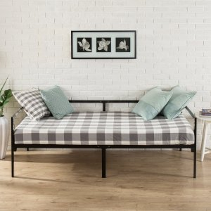 $75Zinus Quick Lock Twin Daybed with Steel Support