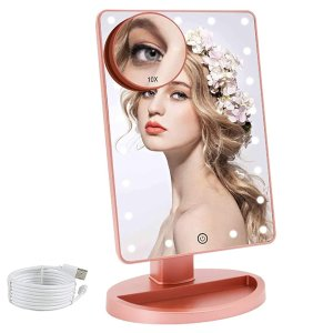 COSMIRROR Lighted Makeup Vanity Mirror @Amazon