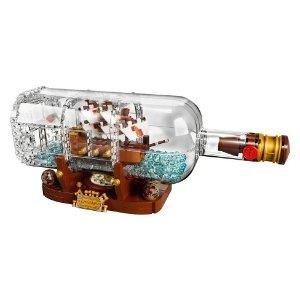 Lego满$50返$10礼卡 史低好价Ideas Ship in a Bottle 21313 瓶中船