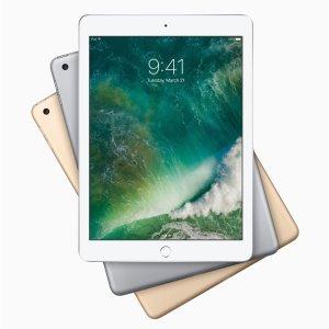 $349 包邮 双色可选Apple iPad (2017款) 128GB Wi-Fi版