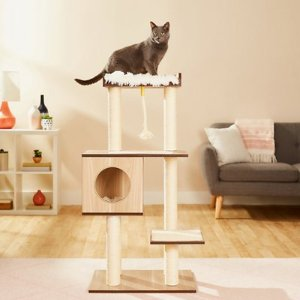 Frisco 47.5-in Modern Cat Tree, Natural - Chewy.com