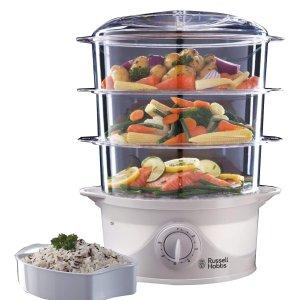低至7折 封面三层电蒸锅补货£24Russell Hobbs 厨房家电闪促 高颜值热水壶、咖啡机、面包机都有
