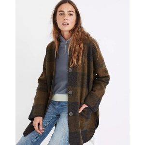 MadewellBuffalo Check Sweater Coat