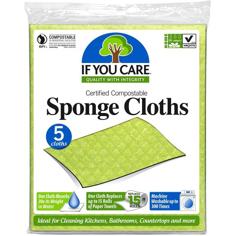 $5.43If You Care 100% Natural Sponge Cloths, 5 Count