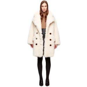 MALLOA 羊羔绒大衣