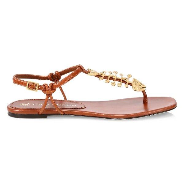 Capri 鱼骨凉鞋