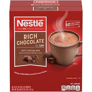 $7.68 销量冠军 冬日暖心必备雀巢热可可粉 浓郁巧克力口味 50包独立包装